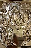 Золочение сусальным золотом резной иконы Святой Троицы., фото 2