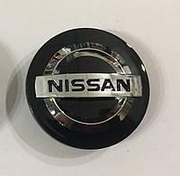 Заглушки колпачки литых дисков Nissan чёрные
