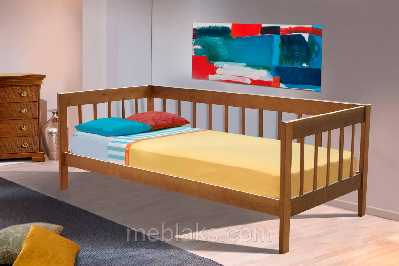 """Кровать деревянная односпальная """"Малибу"""" (серия Елегант)  Микс Мебель"""