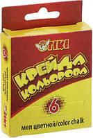 """Крейда """"ТІКІ"""" цветная прямоугольная 6 шт. в уп. (цена за уп.) 51501."""