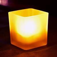 Электронная свеча Задуй меня квадратная