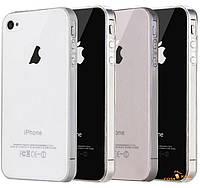 Прозрачный силиконовый чехол iPhone 4 4S ультратонкий (Айфон 4 4С)