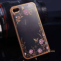 Чехол со стразами iPhone 4 4S Goldy (Айфон 4 4С)