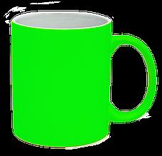Кружка под лазерный трансфер, ярко-зеленая