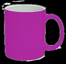 Кружка под лазерный трансфер, ярко-розовая