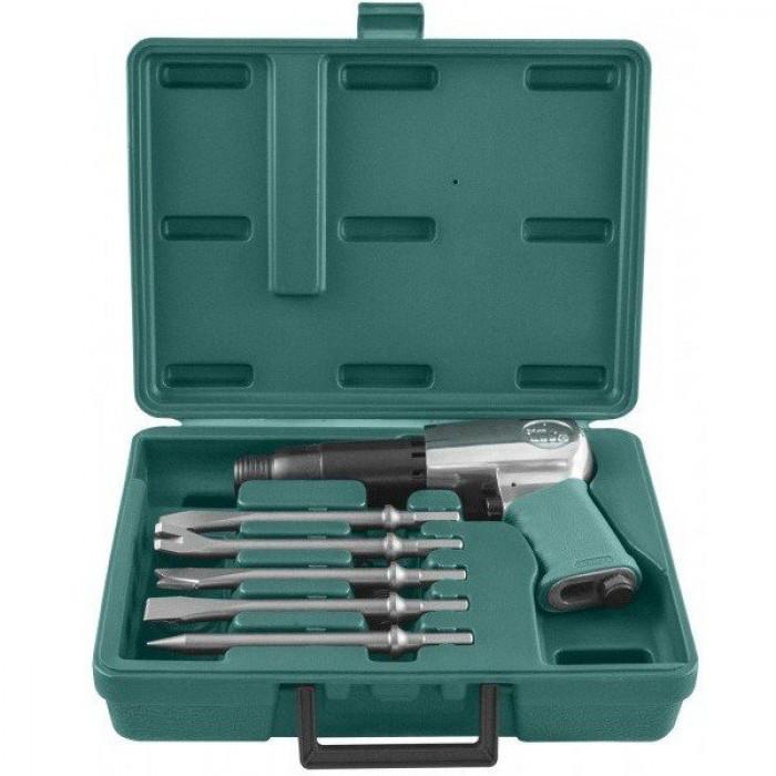 Набор пневматического инструмента молоток - 2100 уд/мин 283 л/мин и комплект насадок 8 п  JAH-6833HK Jonnesway