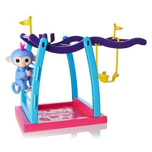 WowWee Fingerlings Интерактивная ручная обезьянка с детской площадкой 3731 Liv Baby Monkey Playground