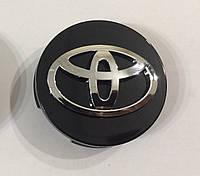 Колпачки заглушки литых дисков Toyota чёрные