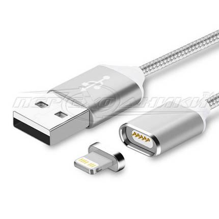 Магнитный кабель USB to Lightning, тряпичный кабель, 1м, фото 2