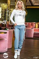 Джинсы женские с вышивкой, фото 1