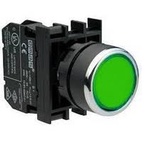 Кнопка нажимная круглая (1но) зеленая