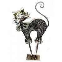 Кот на тонких ножках металлический