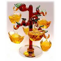 Денежное дерево 6 чаш изобилия цветное стекло