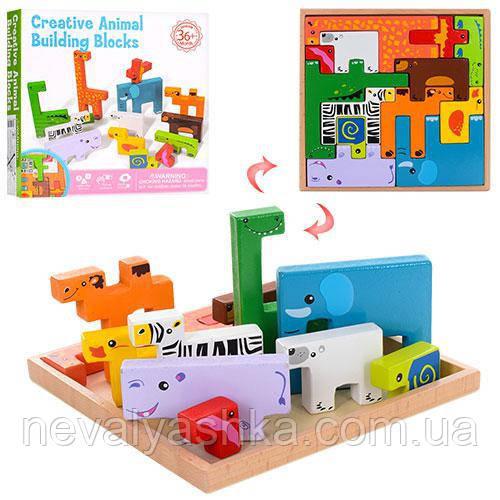 Деревянная игрушка Пазл, MD 1162, 006628