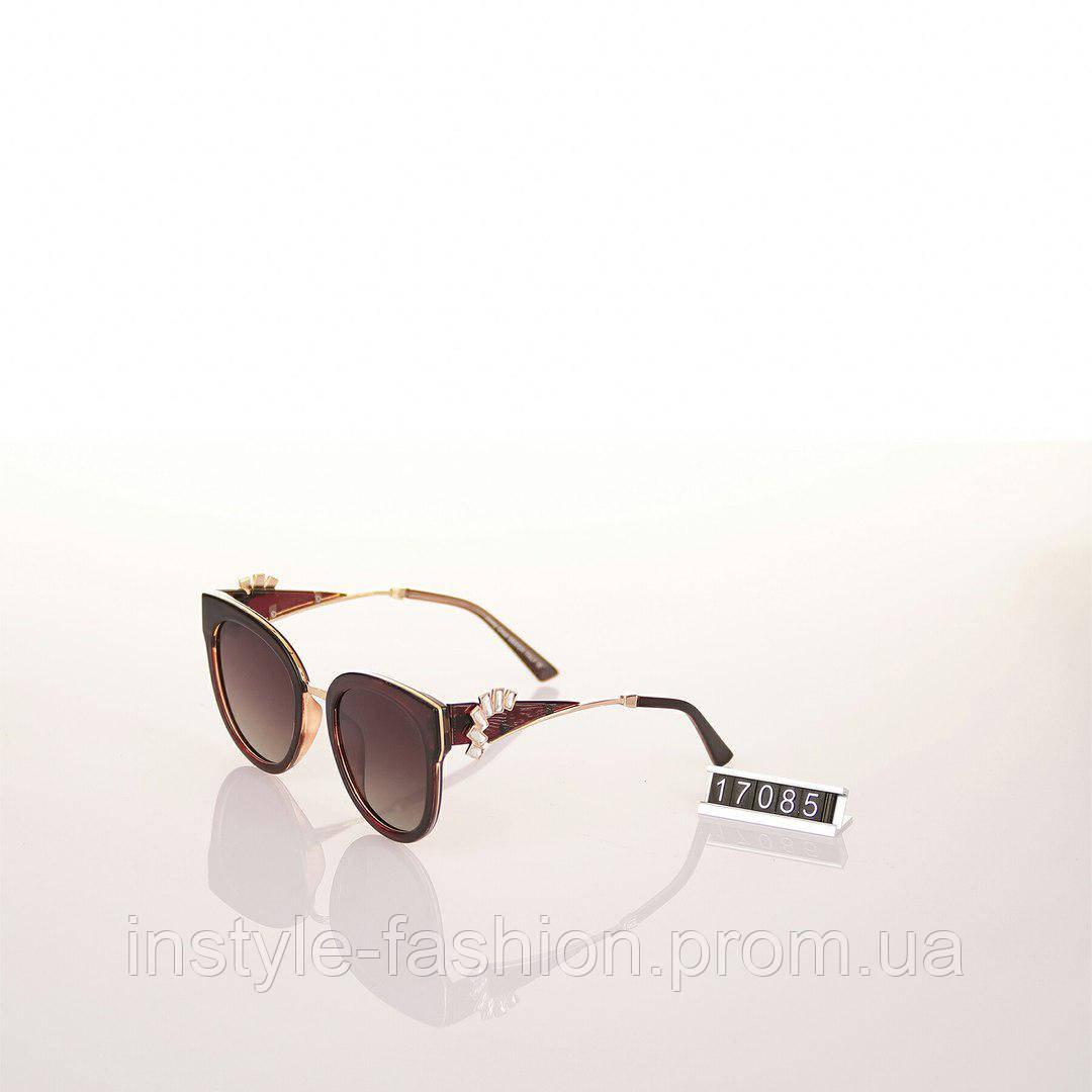 3ea51286f0e8 Женские брендовые очки Jimmy Choo Polaroid с камнями коричневые - Сумки  брендовые, кошельки, очки