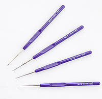 Крючок для вязания 1 мм с пластмассовой ручкой