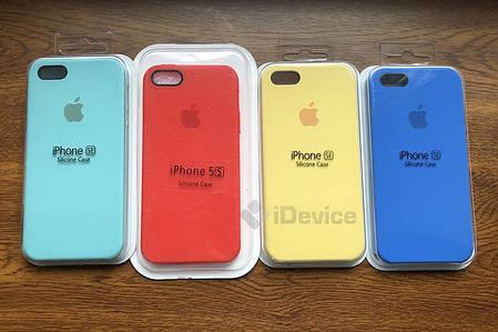 Силиконовый чехол для iPhone 5/SE синий, фото 2