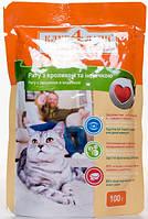 Корм Клуб 4 Лапи консервированный полнорационный для взрослых кошек рагу с кроликом и индейкой 100г