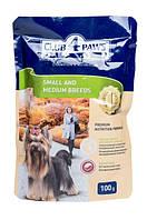 Корм Club 4 Paws консервированный полнорационный для взрослых собак малых и средних пород 100г