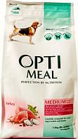 Корм Optimeal Индейка сухой для взрослых собак средних пород полнорационный 1,5кг