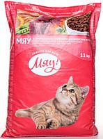 Корм Мяу! полнорационный сухой для взрослых кошек с курицей 11кг