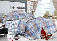 Комплект постельного белья с компаньоном S-107 двуспальный (TAG satin (2-sp)-107)