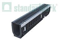 Лоток водовідвідний PolyMax Drive ЛВ-10.16.20-ПП пластиковий з решіткою щілинною чавунною ВЧ кл. D (комплект)