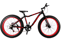 Фэтбайк велосипед Titan Stalker 26″вилка амортизационная (FatBike) NEW 2018 (Black-Red)