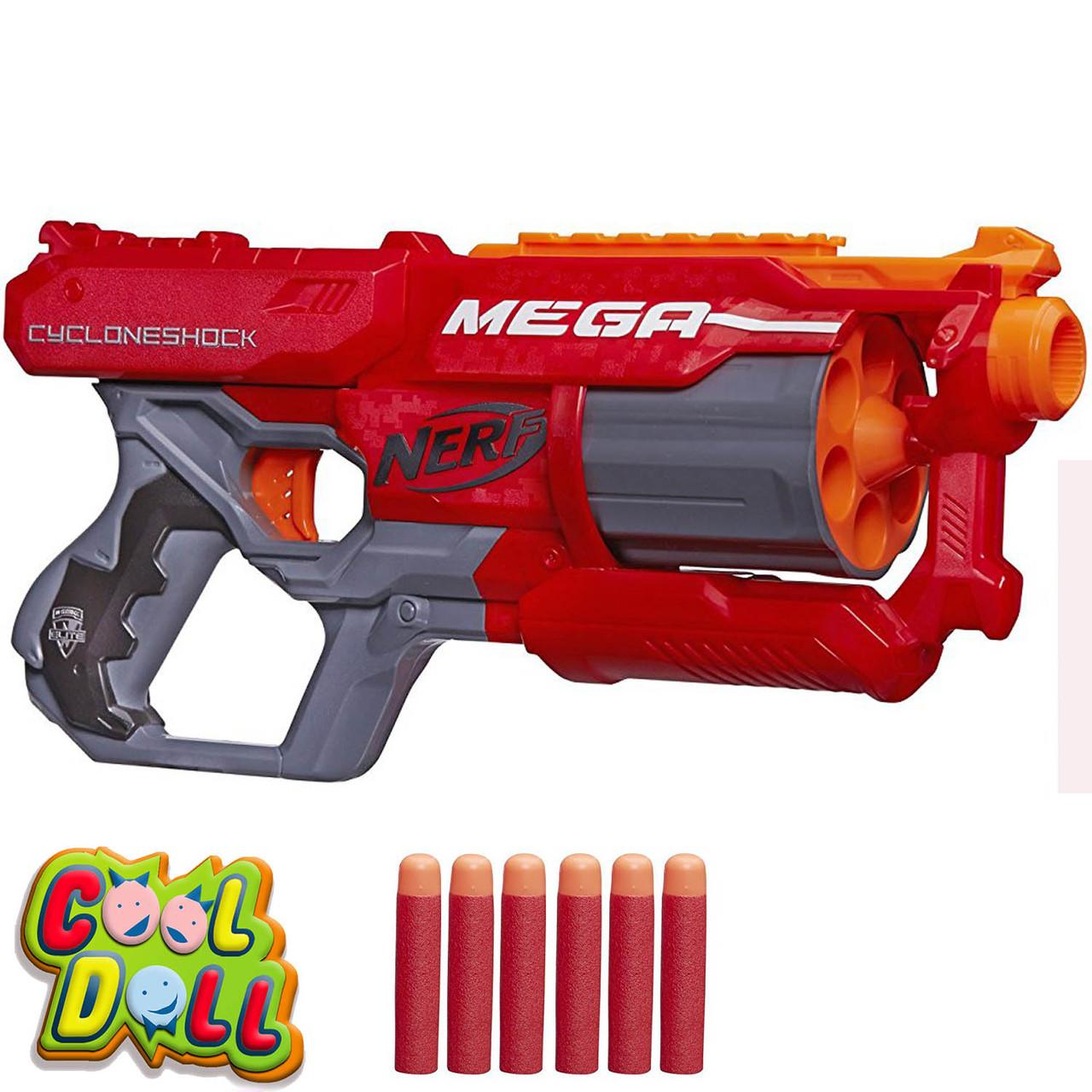 Бластер Нёрф Мега Циклоншок Nerf N-Strike Elite Mega CycloneShock Blaster