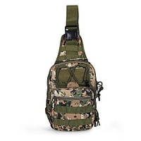 Тактическая военная сумка рюкзак OXFORD 600D Pixel Green, фото 1