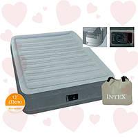 Intex 67766 (99-191-33см) Надувная односпальная кровать + встроенный электронасос 220W