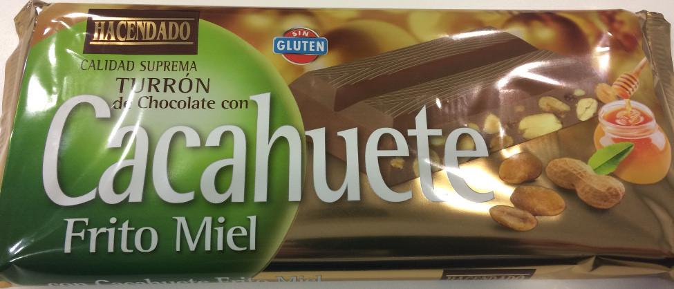 HACENDADO TURRON de Chocolate con Cacahuete