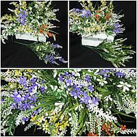 Весенние мелкоцветики из пластика - искусственные цветы, 4 расцветки, выс.36см, 46/36 (цена за 1 шт. + 10 гр.)