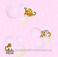 Обои рулонные бумажные детские *Тигрята 1181 ТМ Континент (Украина) 0,53*10,05