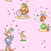Обои рулонные бумажные детские *Цирк 1153 ТМ Континент (Украина) 0,53*10,05