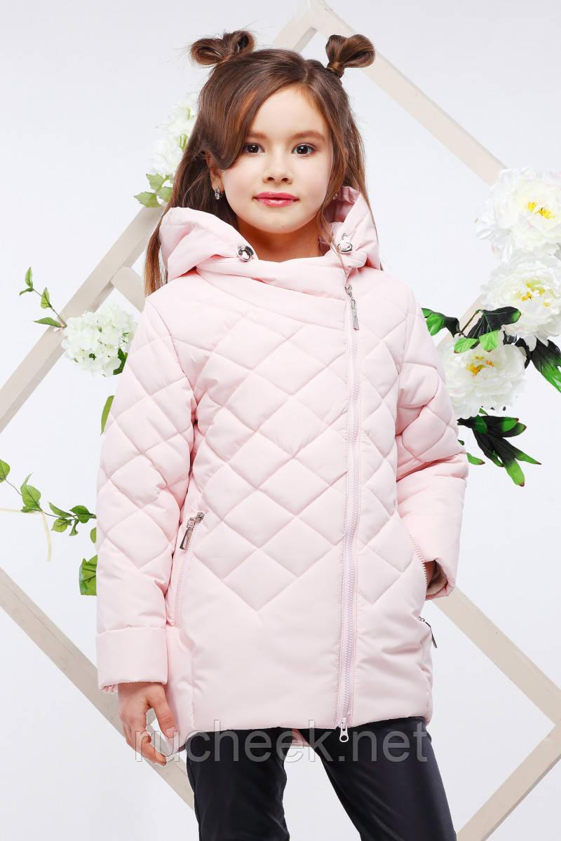 Модная детская куртка Мия,   р-ры 116 - 128, ТМ NUI VERY светло-розовы