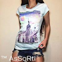 """Женская футболка   """"города"""" , фото 1"""