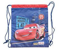 """Рюкзак 1 вересня 553609 SB-01 """"Cars Тачки"""" для змінного взуття спортивний шкільний на шнурках"""