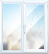 Окно стандартное двустворчатое