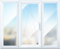 Окно трёхстворчатое