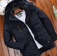 Мужская теплая осенняя куртка. Модель 61630, фото 1
