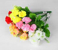 """Искусственные цветы букет """"Розы"""" 45 см, декоративный искусственные цветы, разные цвета"""