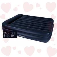Intex 64122 (99х191х42 см.) + 220V. Надувная односпальная кровать Twin Rising Comfort