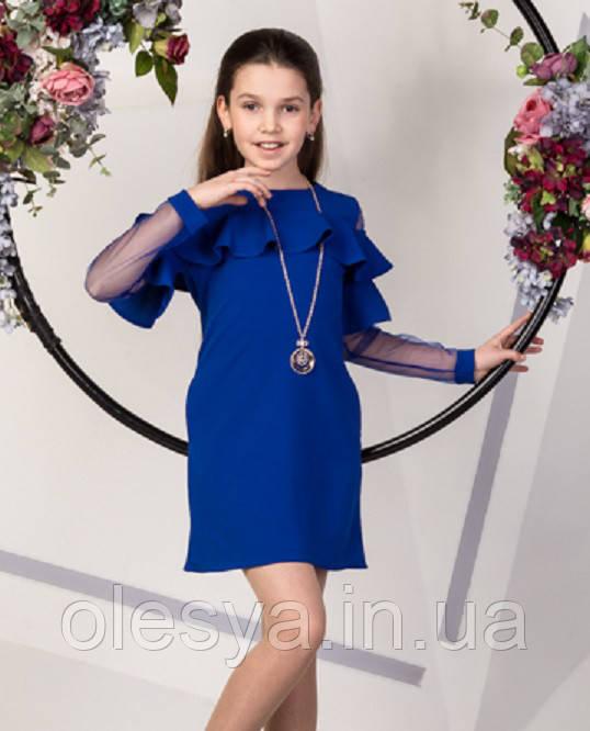 Нарядное платье с воланами на девочку подростка Размеры 134- 158