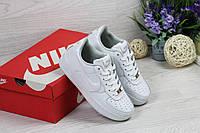 Женские кроссовки Nike Air Force, белого цвета / кроссовки женские Найк Аир Форс, кожаные, удобные, стильные