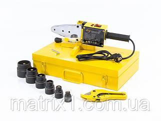 Аппарат для сварки пластиковых труб DWP-1500, 1500Вт, 260-300 градусов комплект насадок,20-63 мм DENZEL  94205