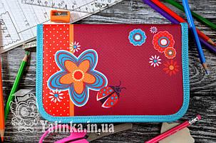 Пенал одинарный  Flowers red 531687 SMART, фото 2