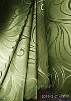 Портьера. Шторная ткань зелёного цвета на метраж и опт. Ширина 1.5 м., фото 1