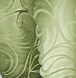 Портьера Шторная ткань зелёного цвета на метраж и опт Ширина 1.5 м, фото 2