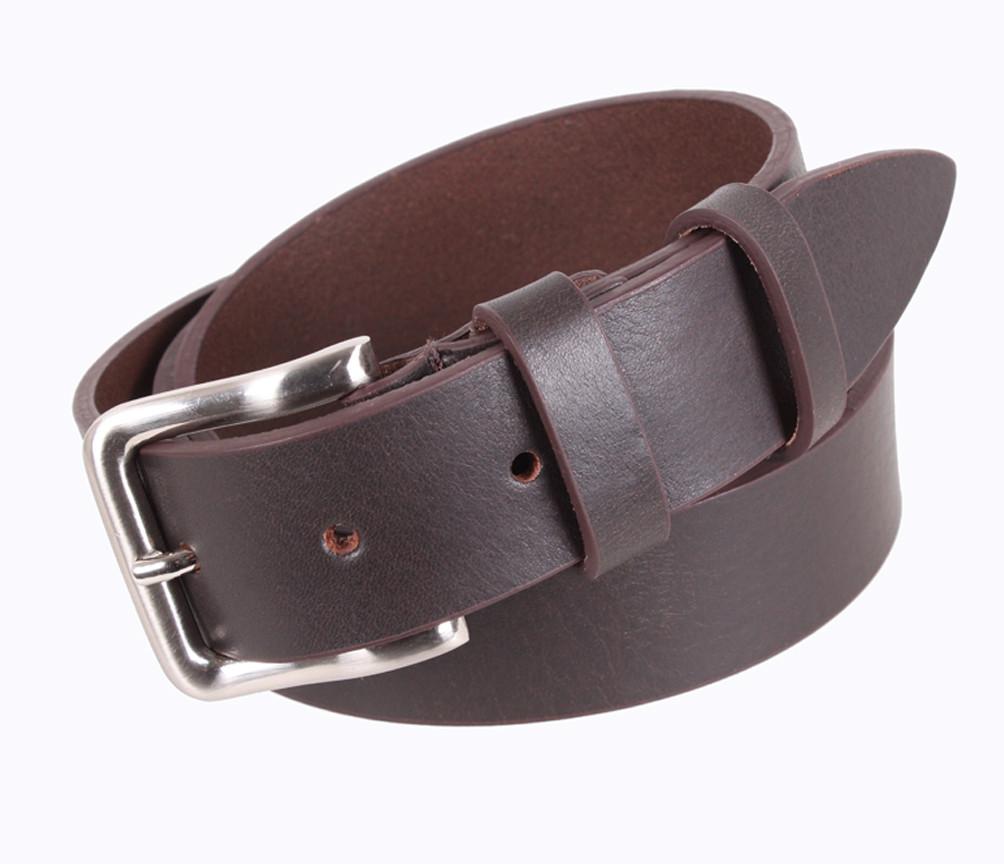Мужской кожаный ремень Dovhani LD666-2 115-125 см Коричневый